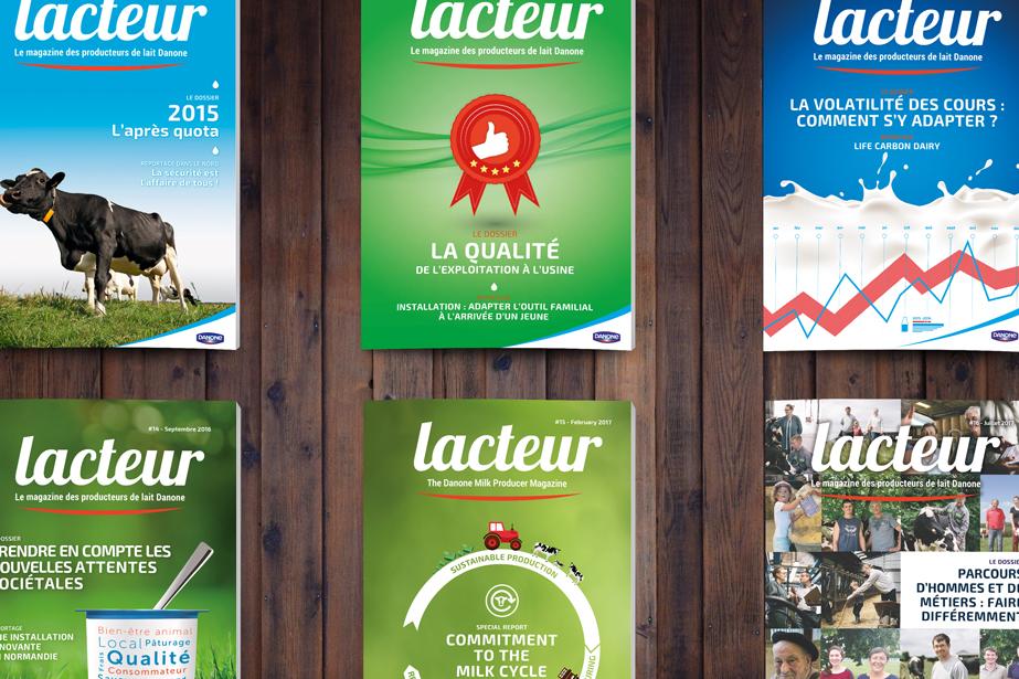 L'agence conçoit, rédige, réalise et imprime le magazine.